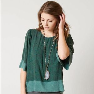 Gimmicks   Green Gables floral top back zip Small